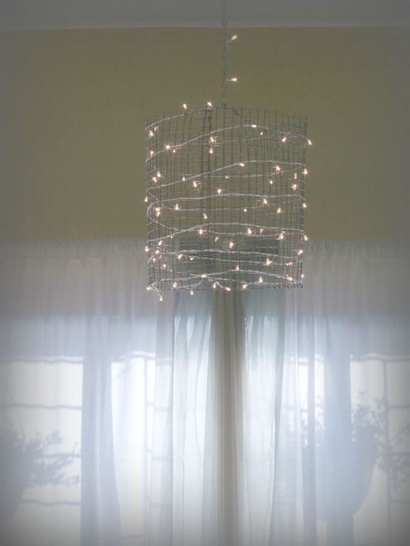 Mesh drum chandelier for less than 5 trumatter drum chandy for less than 5 mozeypictures Images