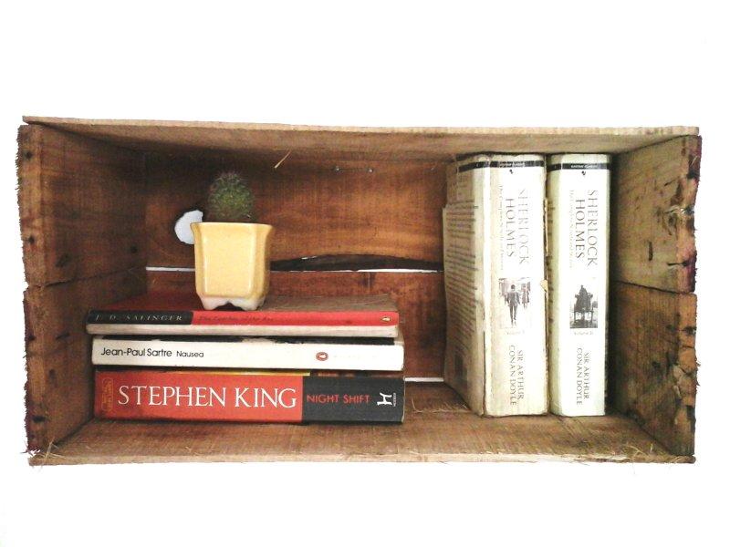 DIY Crate Bk Shelf