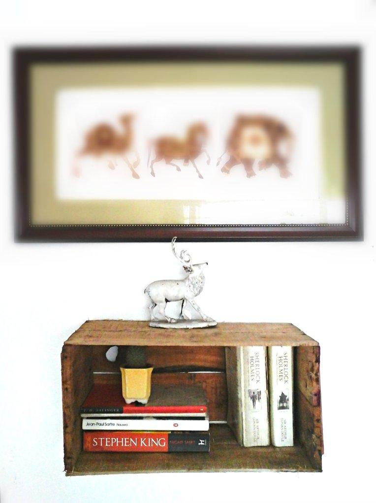 DIY Crate Book Shelf