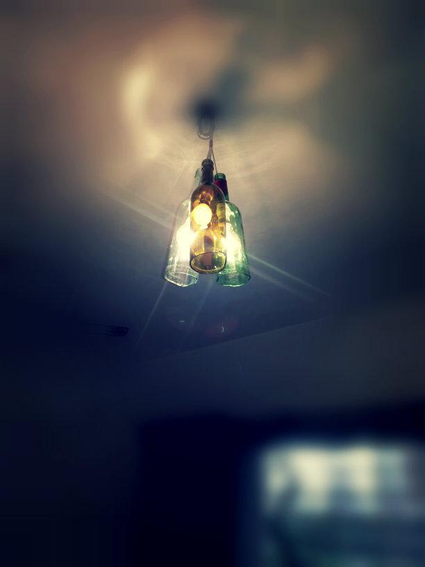 DIY Wine Bottle Lights