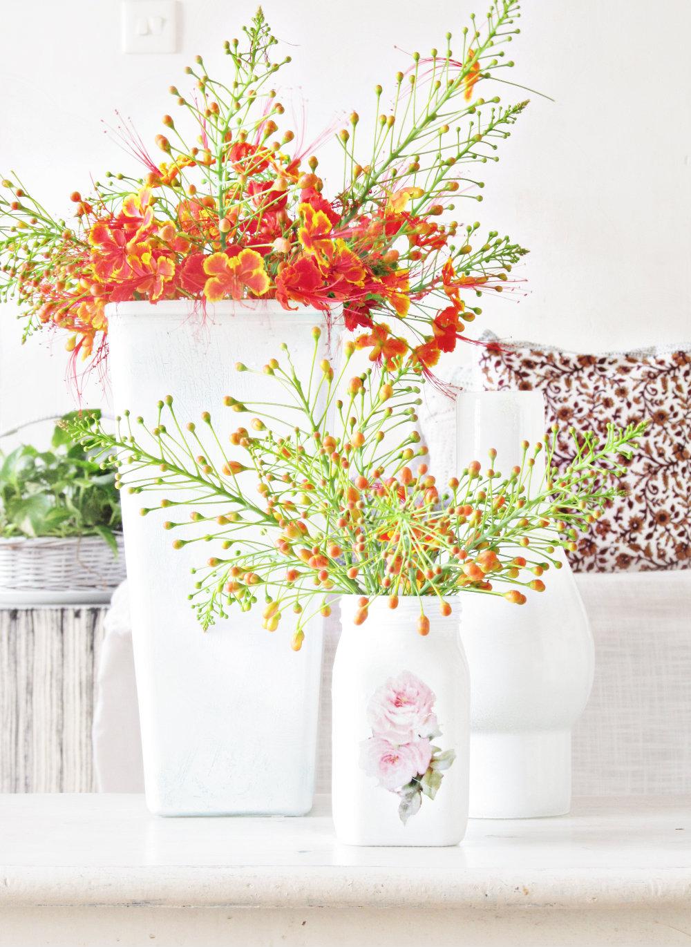 Honey Jar Flower Vase Diy And Other Broomstick Things